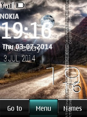Country Live Clock theme screenshot
