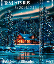 Скриншот темы Winter Fant