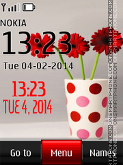 Gerbera Digital Clock theme screenshot