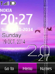 Moon Digital Clock theme screenshot