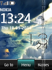 Sky BIG Live Clock theme screenshot