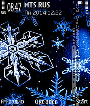 Snowflakes theme screenshot
