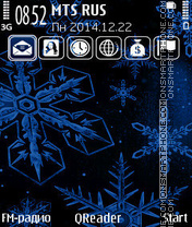 Snowflakes+ theme screenshot