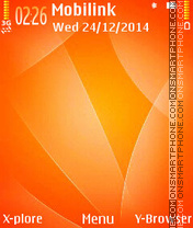 Orange curves tema screenshot
