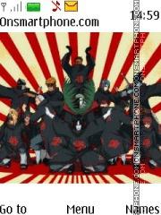 Скриншот темы Akatsuki Naruto