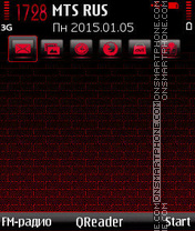Red-Wall tema screenshot