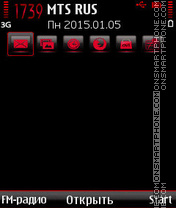 Red-Adjust theme screenshot