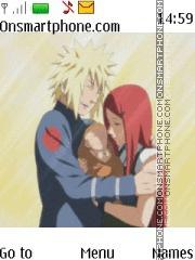 Naruto Minato Kushina theme screenshot