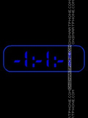Black & Blue clock theme screenshot