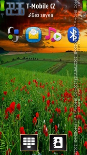Poppy Field 02 tema screenshot