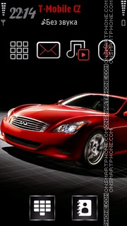 Infiniti Car theme screenshot