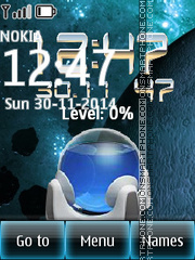 Battery Clock 02 theme screenshot