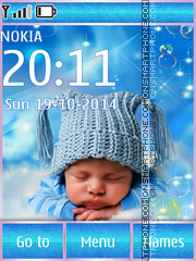 Sleeping Baby 01 tema screenshot