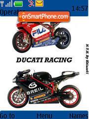 Ducati Racing theme screenshot