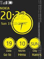Spot Color Clock 01 theme screenshot