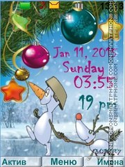 Snowman tema screenshot