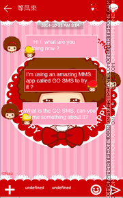 Happy MocMoc GO SMS THEME tema screenshot