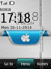 Apple iOS Digital Clock tema screenshot