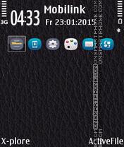 Скриншот темы Leather Anna Icons