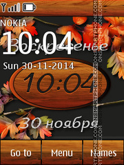 Autumn Clock 05 tema screenshot