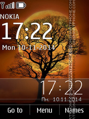 Tree and Moon 01 theme screenshot