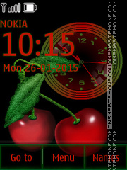 Cherry Clock 01 theme screenshot
