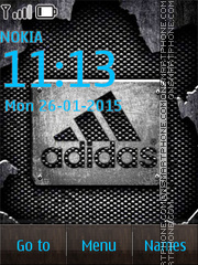 Addidas Dark Logo tema screenshot