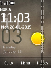 Samsung Galaxy 01 theme screenshot