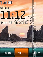 Jamaica Beach Digital Clock theme screenshot