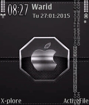 Silver Leather tema screenshot