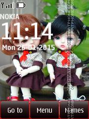 Friends Dolls tema screenshot
