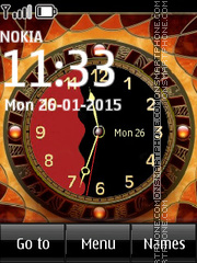 Animated Fire Clock theme screenshot