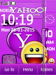 Yahoo Digital Clock theme screenshot