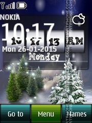 Winter and Digital Clock theme screenshot