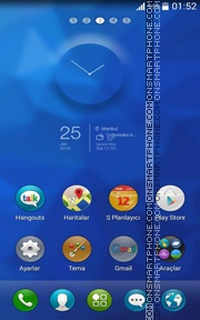 Сycloid blue theme screenshot