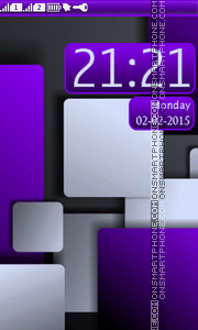 Abstract Rounded Squares theme screenshot