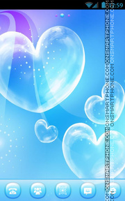 Love Bubble theme screenshot