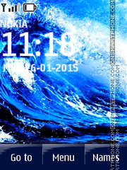Water Wave tema screenshot