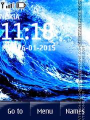 Скриншот темы Water Wave