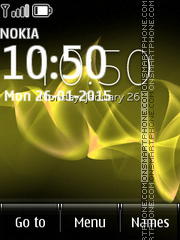 Sony Xperia Yellow Lines tema screenshot