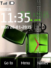 Dual Lighter Zippo Clock tema screenshot
