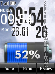 Battery and Digital Clock theme screenshot