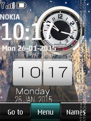 Скриншот темы Winter Dual Clock 01