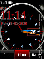 Big Clock Face theme screenshot