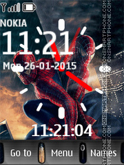 Spiderman with Clock theme screenshot