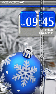 Blue Christmas Ball theme screenshot