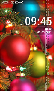 Christmas Balls 04 tema screenshot