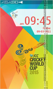 ICC Cricket World Cup 2015 es el tema de pantalla