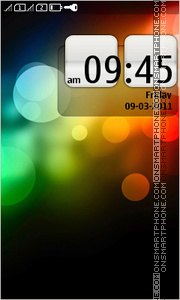 Abstract Color Bokeh theme screenshot