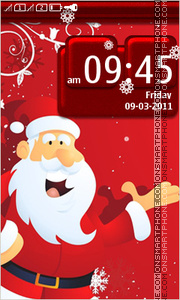Santa Claus 09 tema screenshot